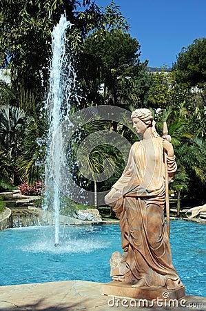 Winter statue, Torremolinos.