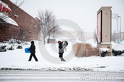 Winter Storm Hercules Editorial Stock Photo