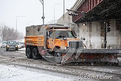 Winter Storm Hercules Editorial Stock Image