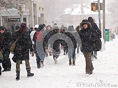 Winter storm hits Toronto Editorial Photography