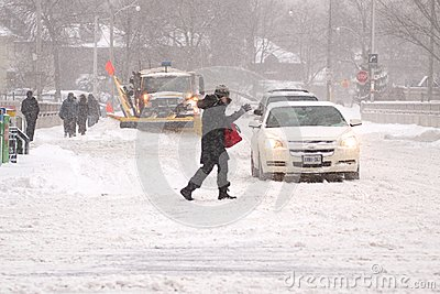 Winter storm hits Toronto Editorial Photo