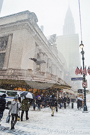 Winter Storm Janus NYC Editorial Stock Image