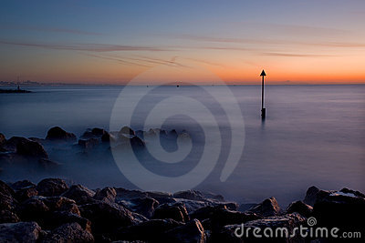 Winter sunrise, Sandbanks, Dorset, UK