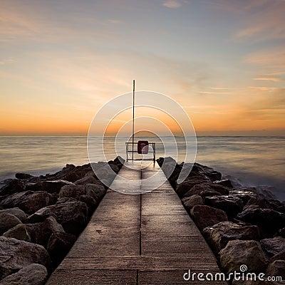 Free Winter Sunrise, Sandbanks, Dorset, UK Royalty Free Stock Image - 15013816