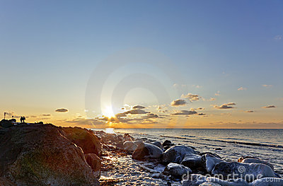 Winter sunset, Baltic Sea