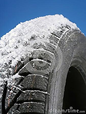 Free Winter Tire Royalty Free Stock Photos - 35610148