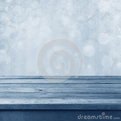 Free Winter Toned Bokeh Background Royalty Free Stock Photography - 27853127