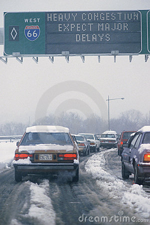 Winter traffic Editorial Image