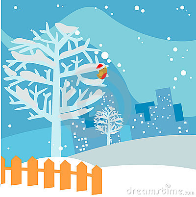 Winter Tree Background