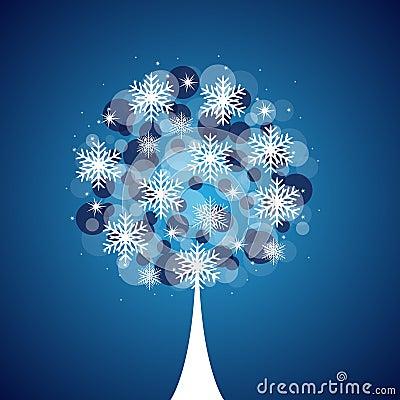 Winter tree background
