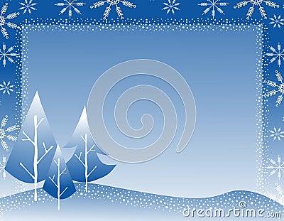 Winter Tree Snowflake Border 2 Royalty Free Stock ...
