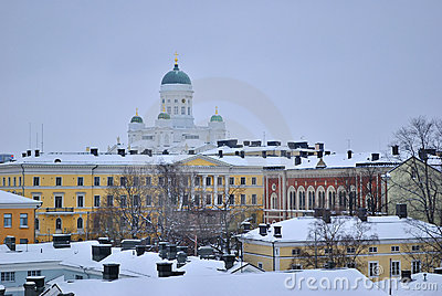 Winter Twilight In Helsinki Stock Image - Image: 17202321