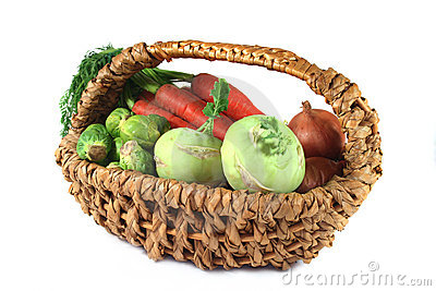 Winter vegetables in a basket