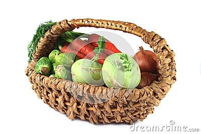 Winter vegetables in a basket