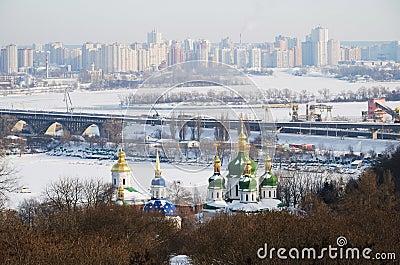 Winter view of Kiev