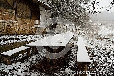 Winter village outdoor