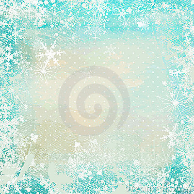 Winter vintage background