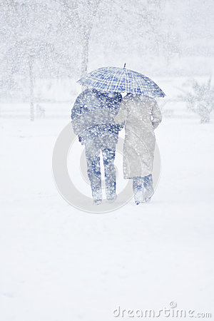Free Winter Walk Royalty Free Stock Photos - 49864358