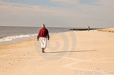 Winter Walk on Beach