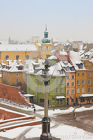 Winter in  Warsaw, Poland