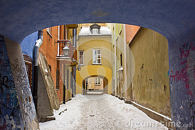 Winter in Warsaw, Poland