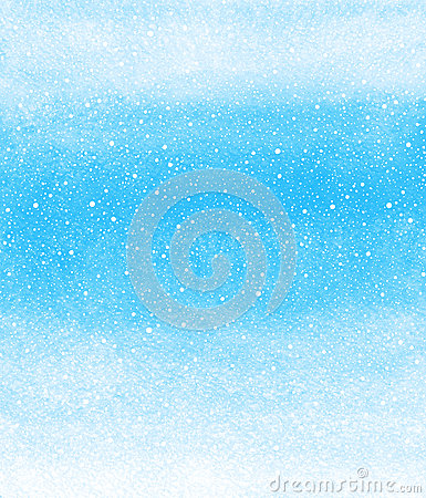 Free Winter Watercolor Background With Falling Snow Splash Texture Royalty Free Stock Images - 62872039