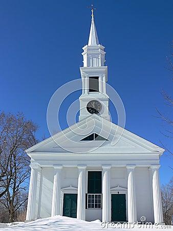Winter: white church