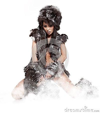 Winter wild woman