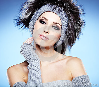 Winter Woman Portrait Stock Photo - Image: 28051550