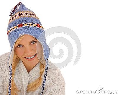 Winter woman white