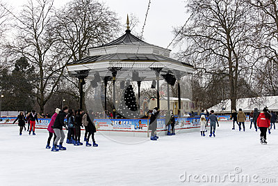 Winter Wonderland in Hyde Park, London Editorial Image