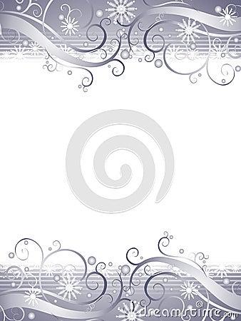 Winter Wonderland Silver Snowflake Background