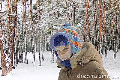 In winter wood.