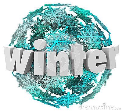 Winter Word Snowflake Snow Ball Season Change
