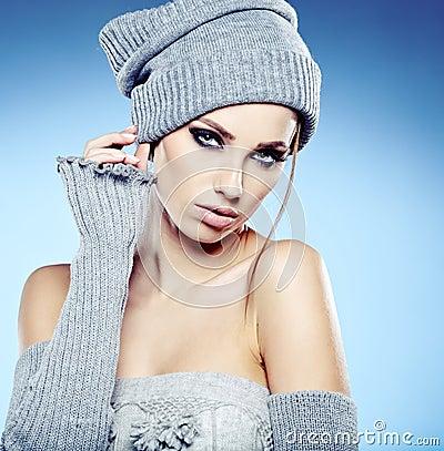 Winterfrauenporträt