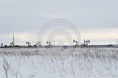 Winters industrial landscape