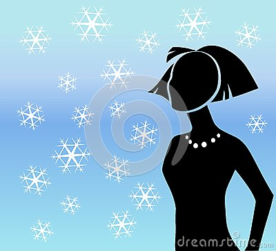 Winterschneeflockeschattenbild
