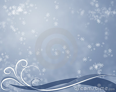 Wintertime abstract background