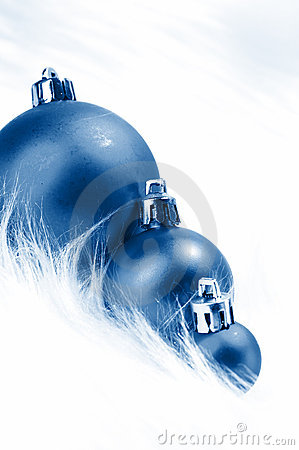 Wintery Christmas Decorations Stock Image - Image: 7355241