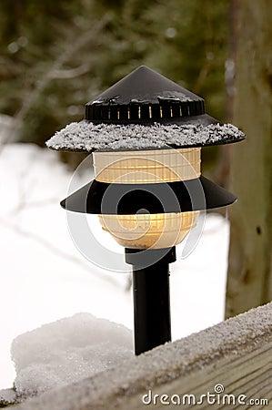 Wintery lamp