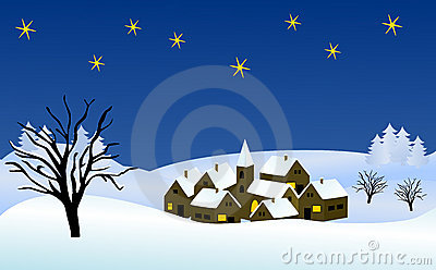 Wintry christmas illustration