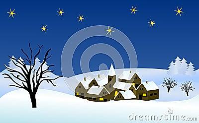 Wintry christmas illustration