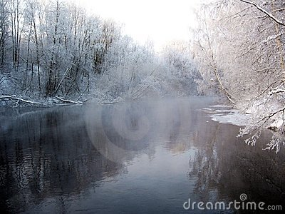 Wintry river scenery