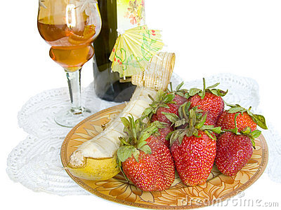 Winy dessert op een servet