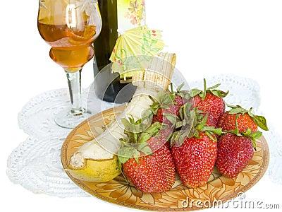 Winy Nachtisch auf einer Serviette