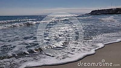 Wiosna dzień przy plażą zdjęcie wideo