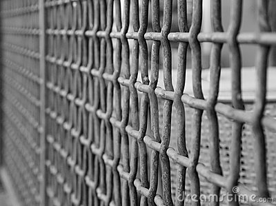 Wire grate fence