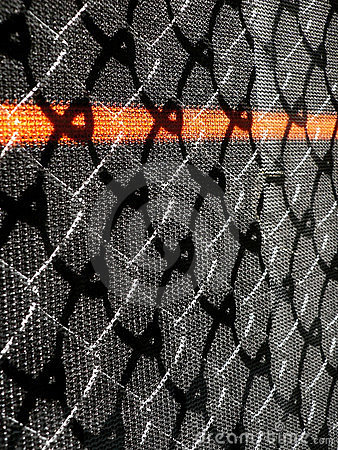 Wire and mesh construction fence.