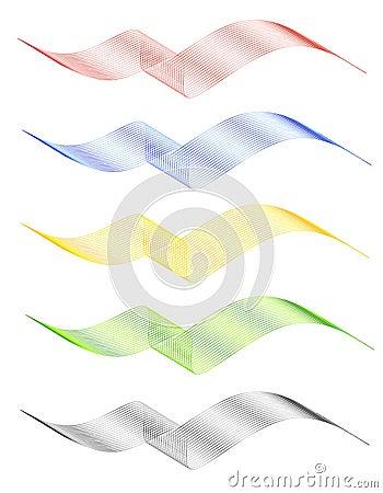Wire Mesh Ribbon Logos Banners