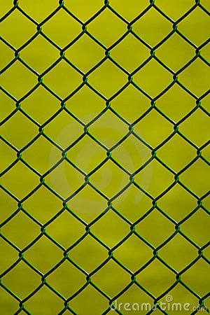 Wire metal fence